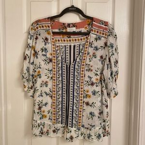 Lucky Fashionable Floral Top Women's Sz X-Lg